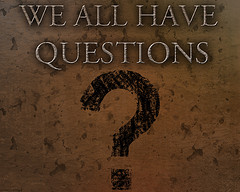 Image: 'questions'  http://www.flickr.com/photos/35880157@N06/4810954845 Found on flickrcc.net